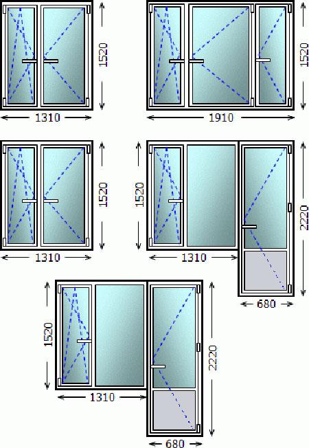 Цена на типовые окна в домах серии 1605 и ii-49.